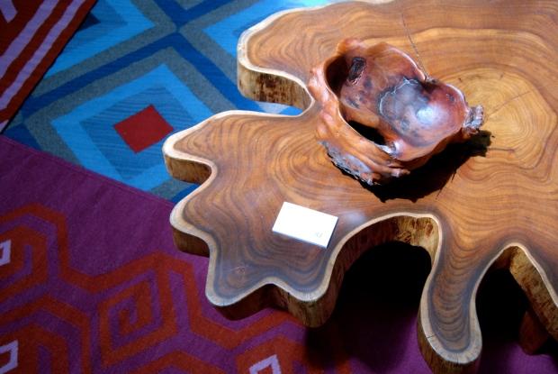 Diseño textil en tapetes de Bi-Yuu y mesa de ITZ. Imagen: mD