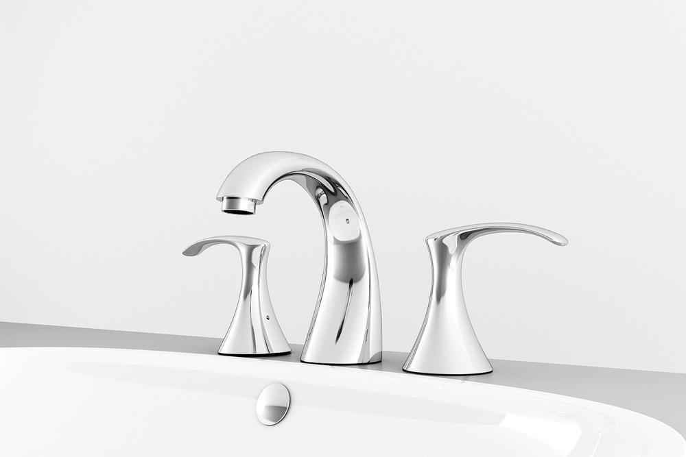 Baño De Regadera Objetivo:Mezcladora de taladros separados para lavabo YAZ