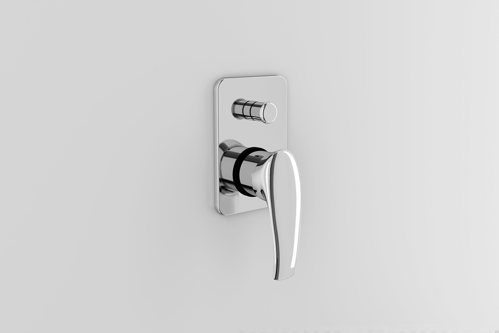Baño De Regadera Objetivo:Monomando de empotrar para regadera/tina YAZ